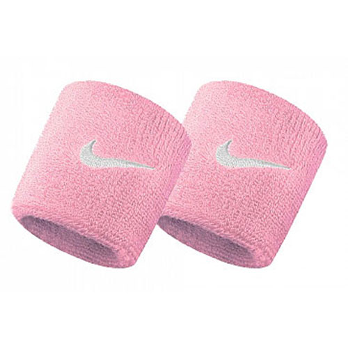 NIKE Swoosh Wristbands Perre-Poignets Tennis Wristband Pink / White