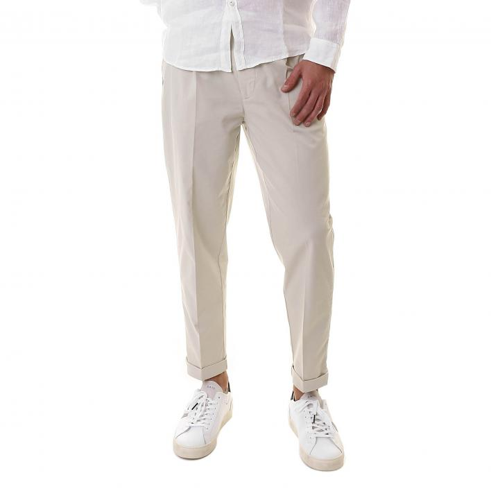 40WEFT PANTA CHINO RELAXED CROPPED CON PINCES
