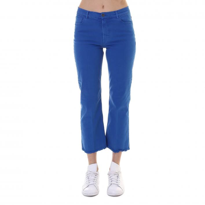 40WEFT PANTALONE 5 TASCHE CROP STRETCH W1744 ROYAL