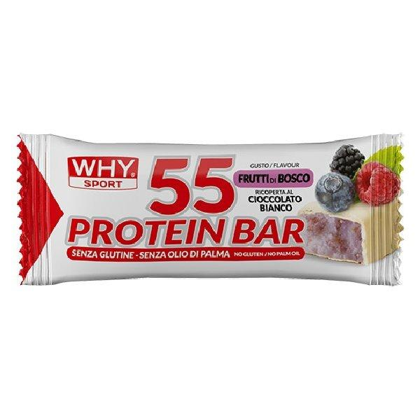 WHYSPORT 55 PROTEIN BAR BERRIES - WHITE CHOCOLATE