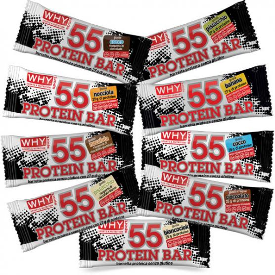 WHY SPORT 55 Protein Bar Coconut Chocolate