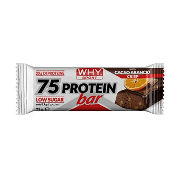 WHYSPORT 75 Proteinriegel Cacao Orange Crisp