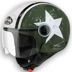 Image of airoh compact casco jet shield verde