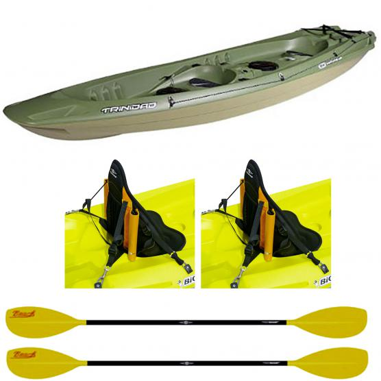 BIC CANOA RIGIDA TRINIDAD FISHING + 2 PAGAIE BEACH 215CM + 2 SCHIENALI FISHING
