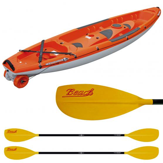 BIC SPORT CANOA RIGIDA BORNEO ORANGE + 2 PAGAIE BEACH 215CM