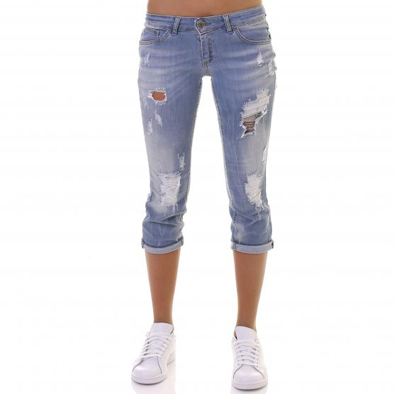 BUNF WOMAN DENIM PIRATE TROUSERS CHAINS