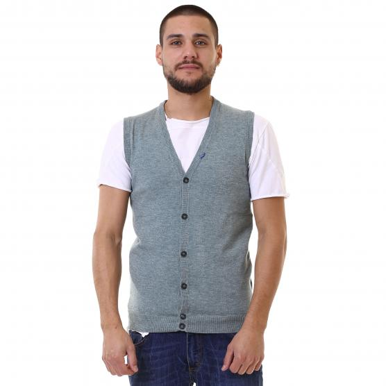 BUNF MEN?S DERBY STRETCH VEST WITH BUTTONS