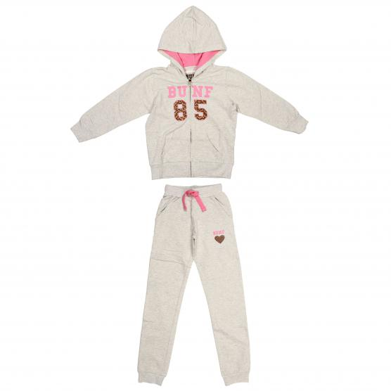 BUNF TUTA SPORTIVA BIMBA LIGHT GREY MELANGE