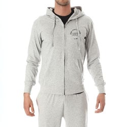 BUNF Man Sweat Grey Melange Uomo