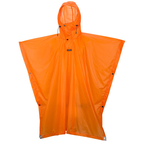 camp essential poncho orange tg.l/xl