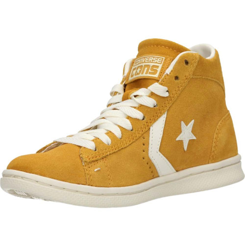 CONVERSE PRO LEATHER LP MID SUEDE CORN