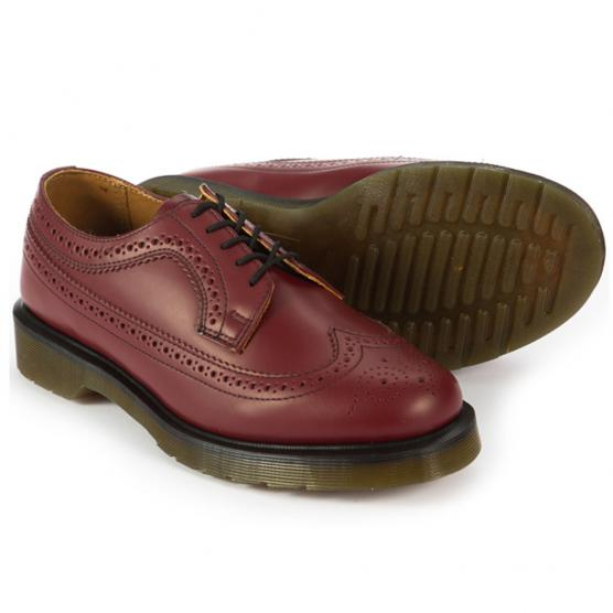 DR MARTENS 3989 BROGUE CHERRY RED SMOOTH