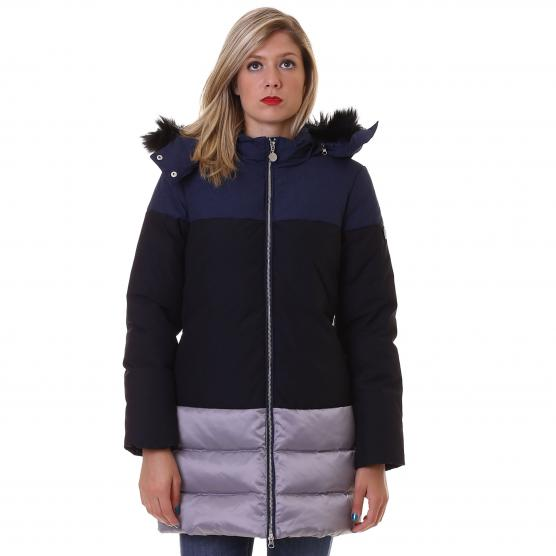 EA7 MOUNTAIN W CLOTH ECOFUR LONG DOWN JACKET DONNA