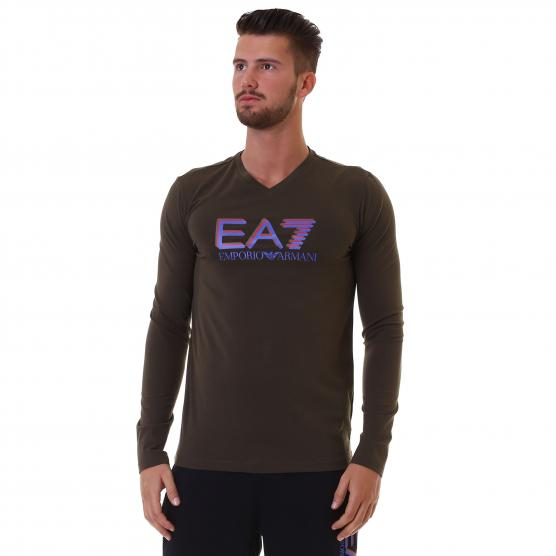 EA7 TRAIN VISIBILITY M TEE VN LS ST UOMO