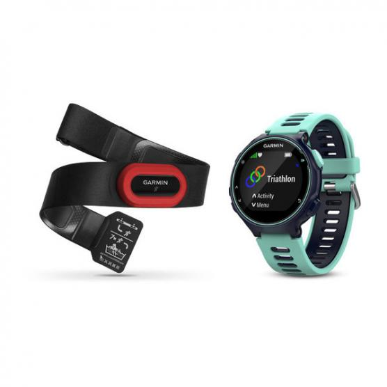 GARMIN FORERUNNER 735XT RUN BUNDLE MDNT BLUE/FROST