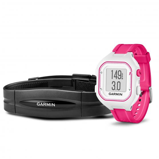 GARMIN Forerunner 25 Small White/Pink + Heart rate band