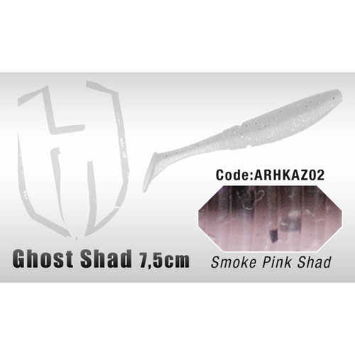 Image of herakles ghost shad 7,5 cm smoke pink shad