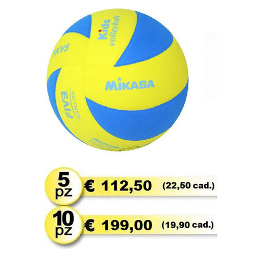 MIKASA SKV5 Kids Pallone Volley Junior Kit Risparmio