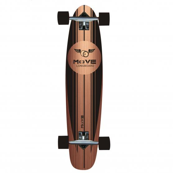 MY AREA LONGBOARD BLACK WOOD