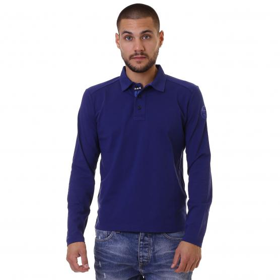 NORTH SAILS POLO LS WITH PATCH UOMO