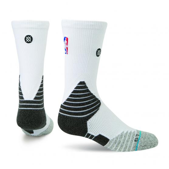 STANCE SOLID CREW NBA WHITE
