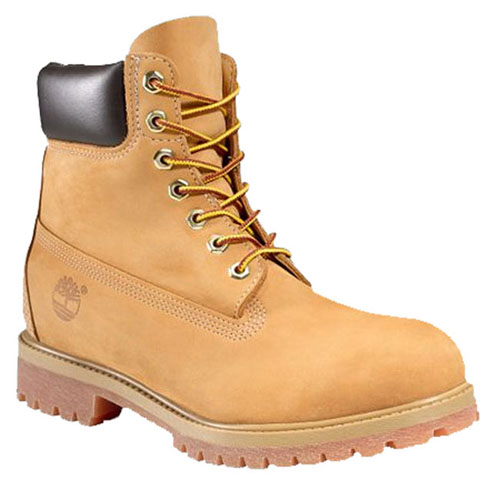 TIMBERLAND Waterproof 6 Inch Premium Boot Wheat Nubuck Men's Boots Brown