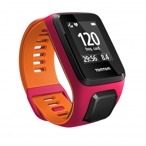 TOMTOM RUNNER 3 CARDIO DARK PINK/ORANGE S