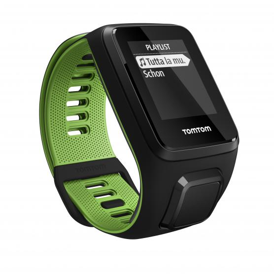 TOMTOM RUNNER 3 CARDIO+MUSIC BLACK/GREEN L