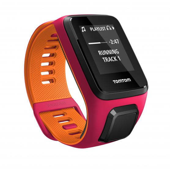 TOMTOM RUNNER 3 CARDIO+MUSIC DARK PINK/ORANGE S