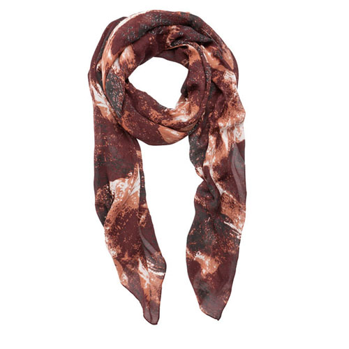 ONLY VICKIS LONG SCARF WINE RED