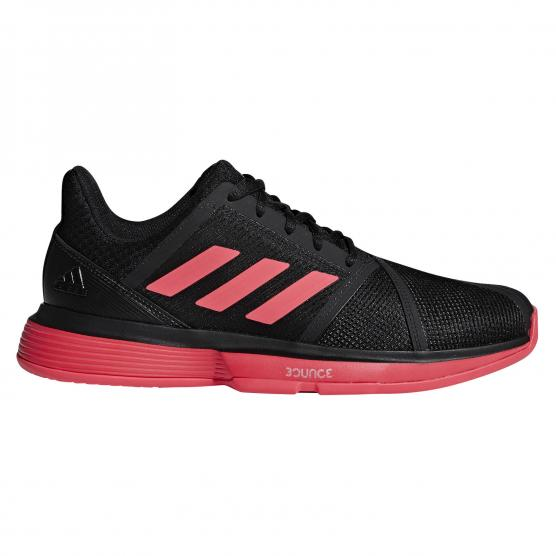 ADIDAS COURTJAM BOUNCE M CORE BLACK/SHOCK RED