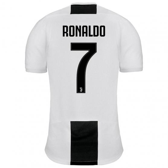 ADIDAS JUVE HOME JERSEY YOUTH + STAMPA RONALDO 7