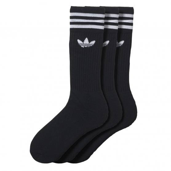 ADIDAS ORIGINAL SOLID CREW SOCK 3 PACK