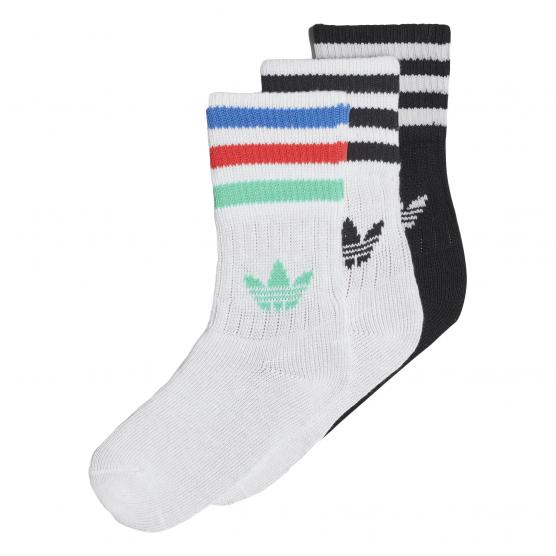 ADIDAS ORIGINAL SOLID CREW SOCKS 3 PACK KIDS