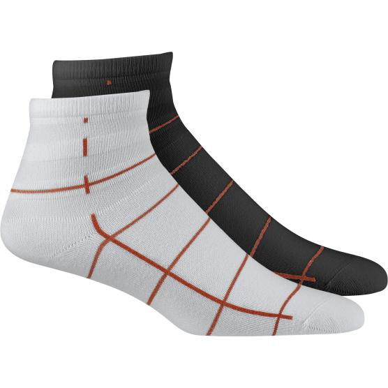 ADIDAS ORIGINALS ANKLE SOCK 2PP  WHITE/BLACK