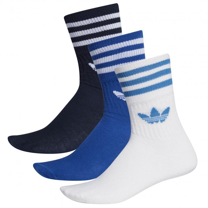 ADIDAS ORIGINALS MID CUT SOLID CREW SOCK 3PP