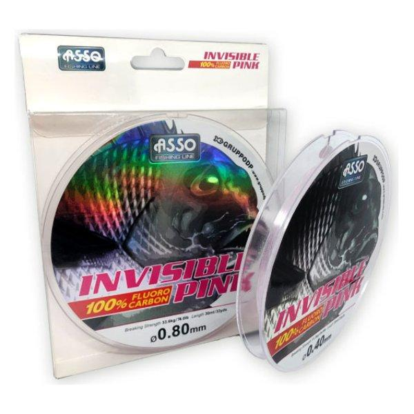 ASSO INVISIBLE PINK 30 MT 0.60 MM