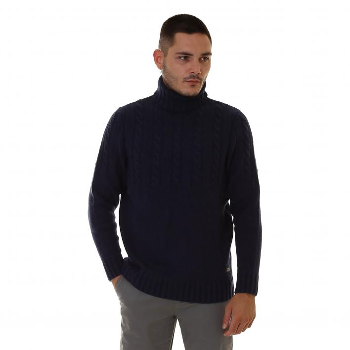 BARBOUR DUFFLE CABLE CREW MAN KNITWEAR