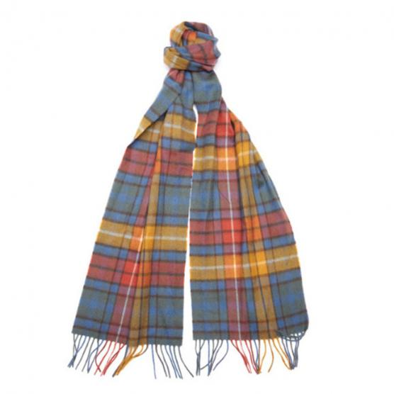 Barbour new check tartan scarf bl11