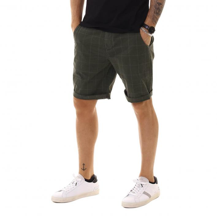 BARBOUR OVERDYED CHECK SHORT