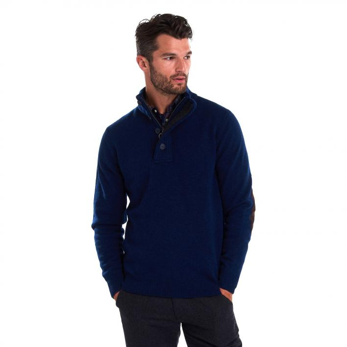 BARBOUR PATCH HALF ZIP MAN KNITWEAR