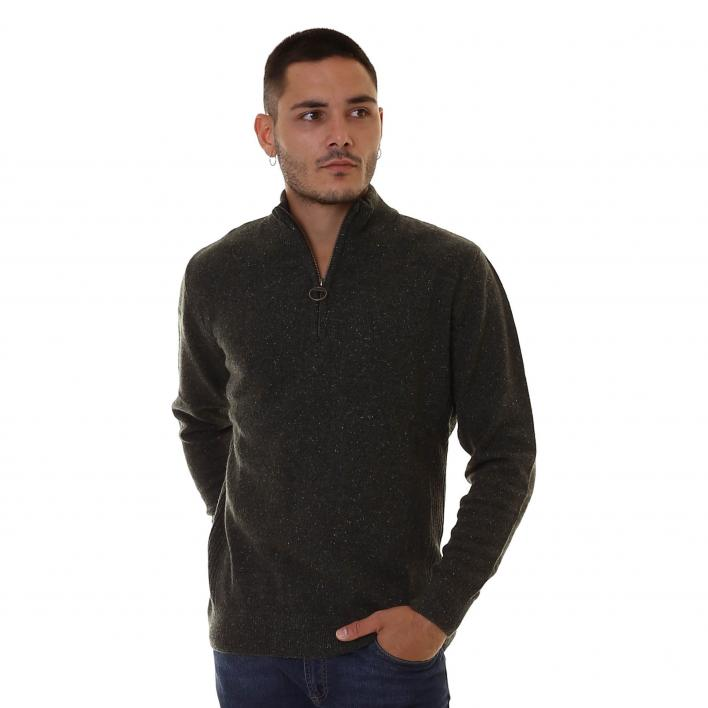 BARBOUR TISBURY HALF ZIP MAN KNITWEAR