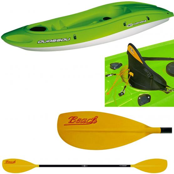 BIC SPORT OUASSOU FASHION + PAGAIA BEACH 215CM + SCHIENALE POWER