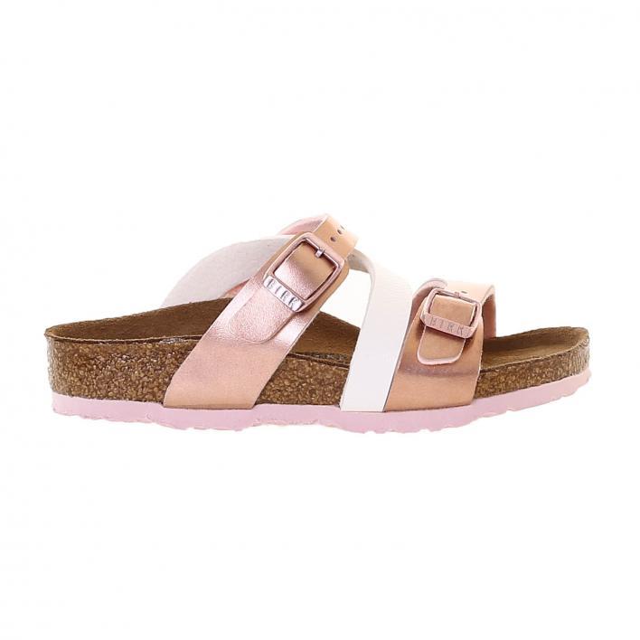 BIRKENSTOCK SALINA SOFT METALLICS ROSE' WHITE