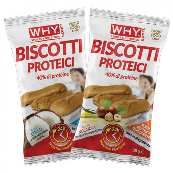 WHY SPORT Biscotti Proteici Cocco