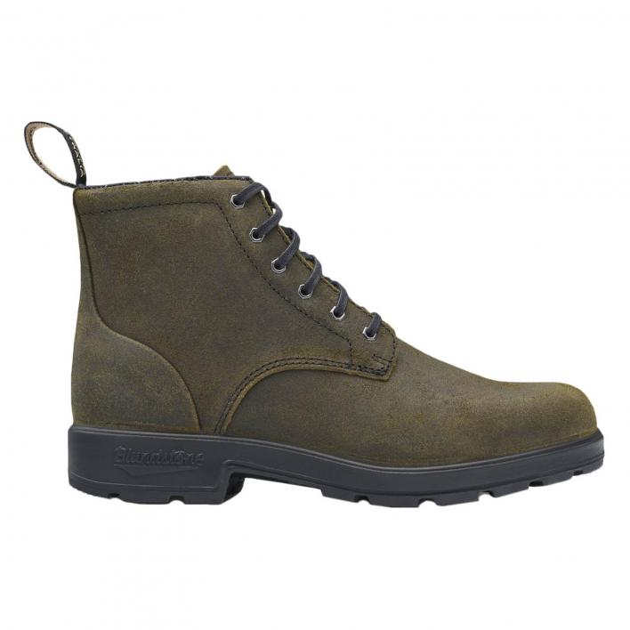 BLUNDSTONE LACE OLIVE SUEDE