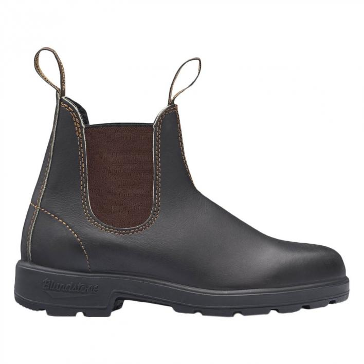 BLUNDSTONE #500 STOUT BROWN LEATHER BROWN ELASTIC