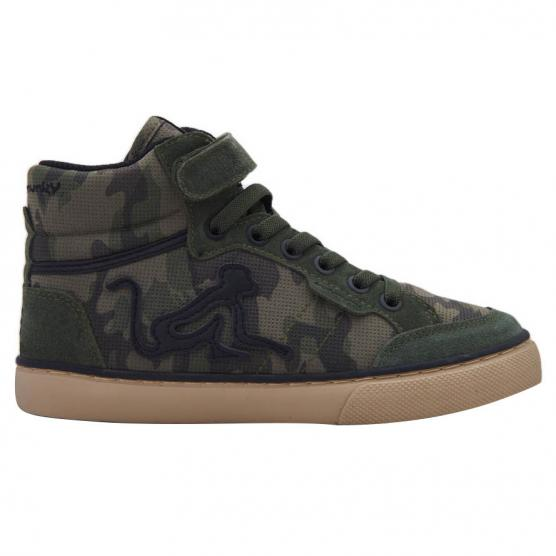 DRUNKNMUNKY BOSTON  CAMU BOY & GIRL B18 COMBAT GREEN