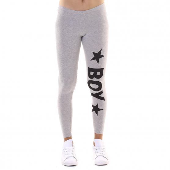 BOY LONDON LEGGING COTONE STRETCH STAMPA GRANDE GRIGIO