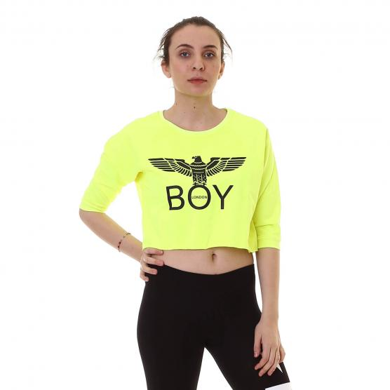 BOY LONDON MAGLIA CORTA FELPINA CO G/C M/L+STAMPA